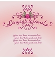 Decorative element congratulations card vector image