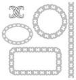 decorative frames brush pattern vector image vector image
