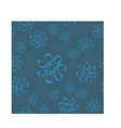 Dirty blue floral seamless pattern vector image