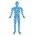 drop man figure vector image