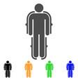 exoskeleton flat icon vector image