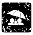 Family insurance concept icon grunge style vector image vector image