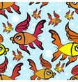 fishes pattern vector image vector image