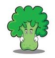 Flat face broccoli chracter cartoon style