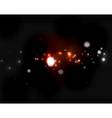 Glowing shiny bubbles and stars in dark space vector image vector image
