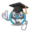 graduation steering wheel in the character shape vector image vector image