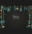 green mint and gold color christmas decoration vector image
