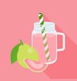 guava juice in mason jar vector image vector image