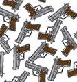 gun pattern vector image vector image