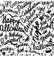 Halloween seamless pattern for your design vector image vector image