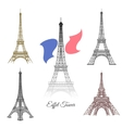 Hand drawn Eiffel Tower in Paris vector image vector image
