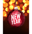 Happy New Year poster background Greeting banner vector image