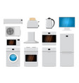 home appliances set flat design vector image vector image