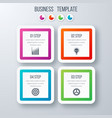 infographics template four options with square vector image vector image