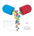 infographics vitamins vector image vector image