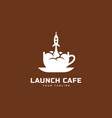 launch cafe logo vector image vector image