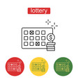 lottery line icon editable stroke vector image vector image