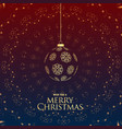 luxury premium merry christmas greeting with vector image vector image