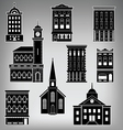 Main St Buildings vector image vector image