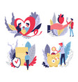 medical insurance isolated icons health and life vector image vector image