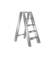 metallic ladder vector image