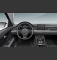 modern car interior with vector image vector image