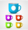 mug set colors vector image