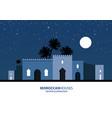 night view mediterranean arabic or moroccan vector image vector image