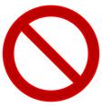 No sign vector image vector image