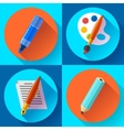 Painting and Drawing Icons set vector image vector image