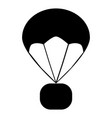 parachute icon on white background flat style vector image
