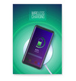 poster with infographics wireless charging vector image vector image
