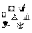 Restaurant icons and menu elements vector image