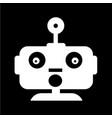 robot emotion icon design vector image vector image