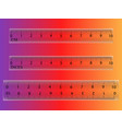 school of measuring plastic strap of 10 centimeter vector image