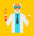 scientific man icon flat style vector image