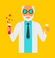 scientific man icon flat style vector image