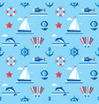 sea - background seamless pattern in flat vector image