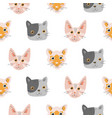 seamless pattern with adorable kittens vector image