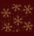 seamless pattern with snowflakes on winter vector image vector image