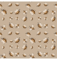 Seamless pattern with striped bees vector image vector image