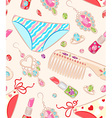Seamless pattern with womens jewelry and objects vector image vector image