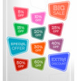 set of abstract sale stickers vector image vector image