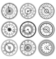 Set of ornamental watches vector image vector image
