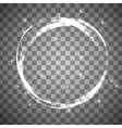 Shiny circle frame on transparent background vector image vector image