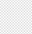 Simple black white seamless geometric pattern vector image