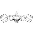 spartan gym mascot grit line art vector image vector image