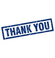 square grunge blue thank you stamp vector image vector image