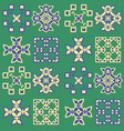 square motif quilt tile seamless pattern vector image vector image