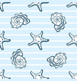 starfishes and seashells seamless pattern vector image